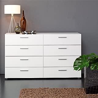 8-Drawer Double Dresser (White)