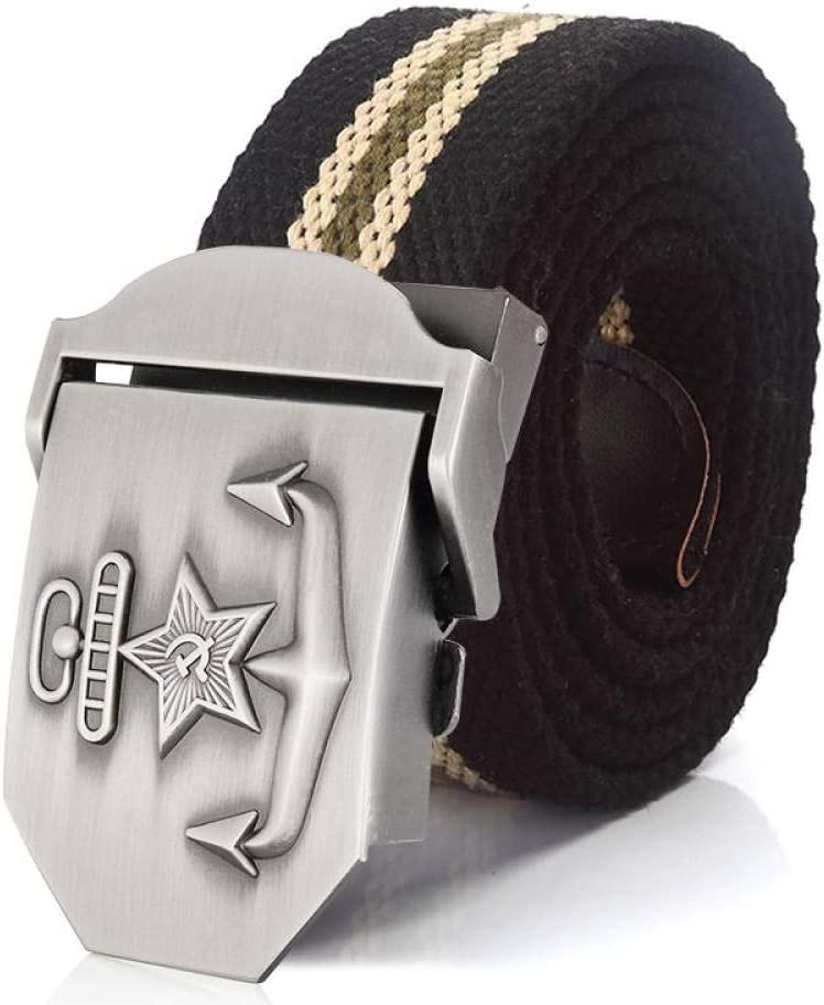 FDDSSYX Nylon Ranking TOP8 Canvas Belt - Black Stripes 3D Unisex Outlet SALE
