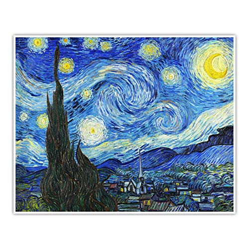 CanvasArts Sternennacht - Vincent Van Gogh - Poster (100 x 80 cm, Poster)