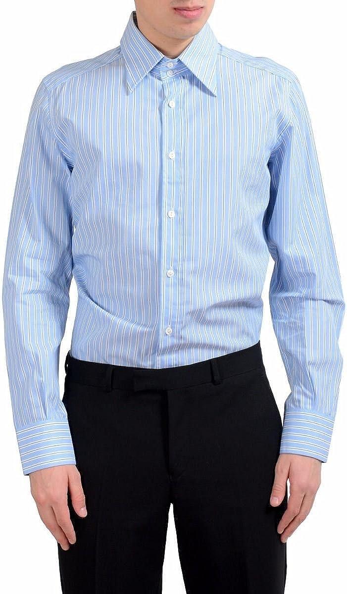 Dolce & Gabbana Men's Striped Long Sleeve Dress Shirt US 16 IT 41