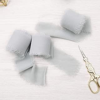Doris Home Handmade Fringe Chiffon Silk-Like Ribbon 2