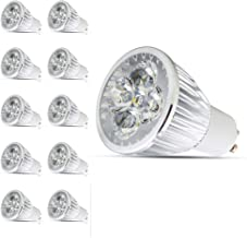 Mengjay 10 Pcs GU10 110V LED Bulbs, Equal to 40W Halogen Bulbs, 4W 300 Lumen 60°Beam Angle, 4 LED Chips Lamp Beads, 3000K Warm White Bulb, LED Light Bulbs