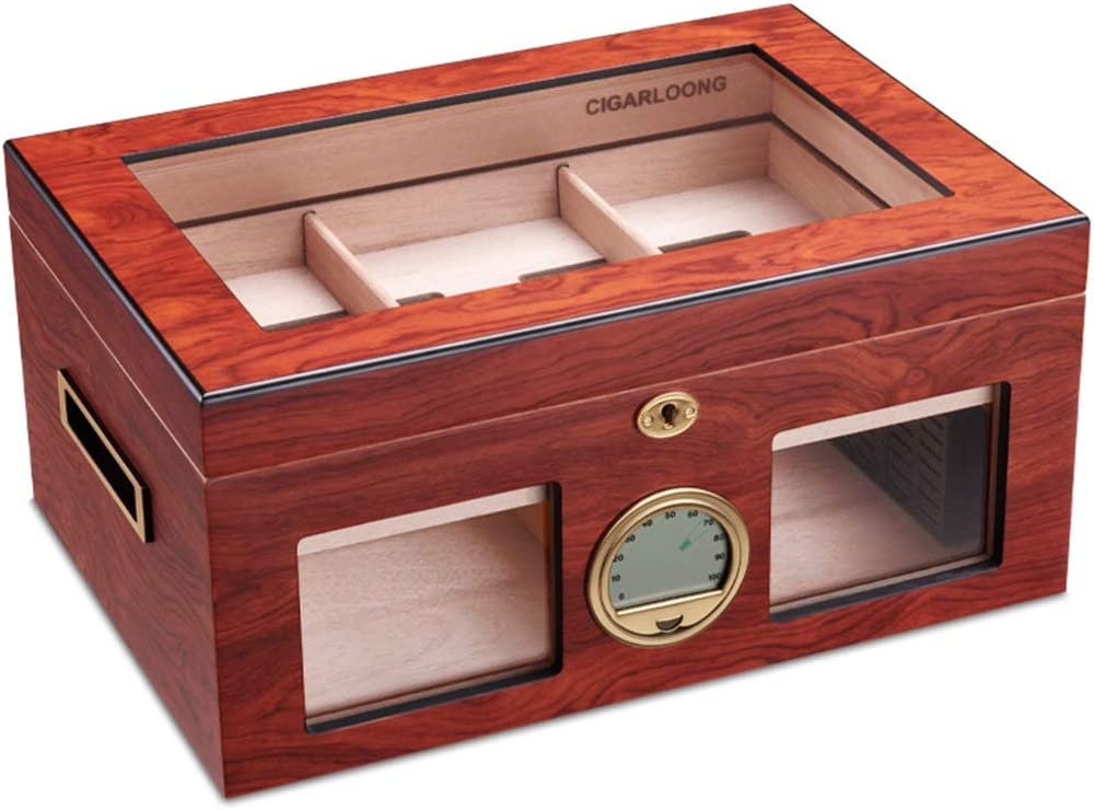 Humidors Cigar Import Cabinet Humidification Wood Cedar OFFicial store Box