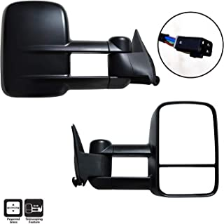 AERDM New Pair Towing Mirrors Set Telescoping Side Tow Mirrors fit Chevy GMC Exterior Accessories Mirrors fit C1500 C2500 C3500 K1500 K2500 K3500 1988-1998