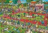 Eligjhf - Puzzle de 1500 piezas [Division] Competición para animales de compañía, artesanía, juguete de madera, regalo decorativo, 87 x 57 cm