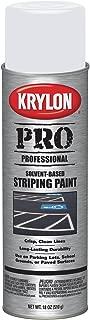 Krylon K05910007 Solvent-Based Professional Striping Paint, Highway White, 18 Ounce