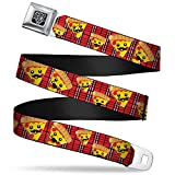 Buckle-Down Unisex-Adult's Seatbelt Belt Pizza Regular, Man Plaid red, 1.5' Wide-24-38 Inches