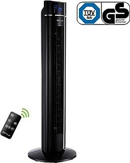 MVPower Ventilador de Torre Oscilante de 60 ° con Temporizador 8h, Ventilador de Pie de 107 cm Tower Fan Silencioso con Mando a Distancia, Potencia de 60 W, Función de Iones, 3 Velocidades+3 Modos