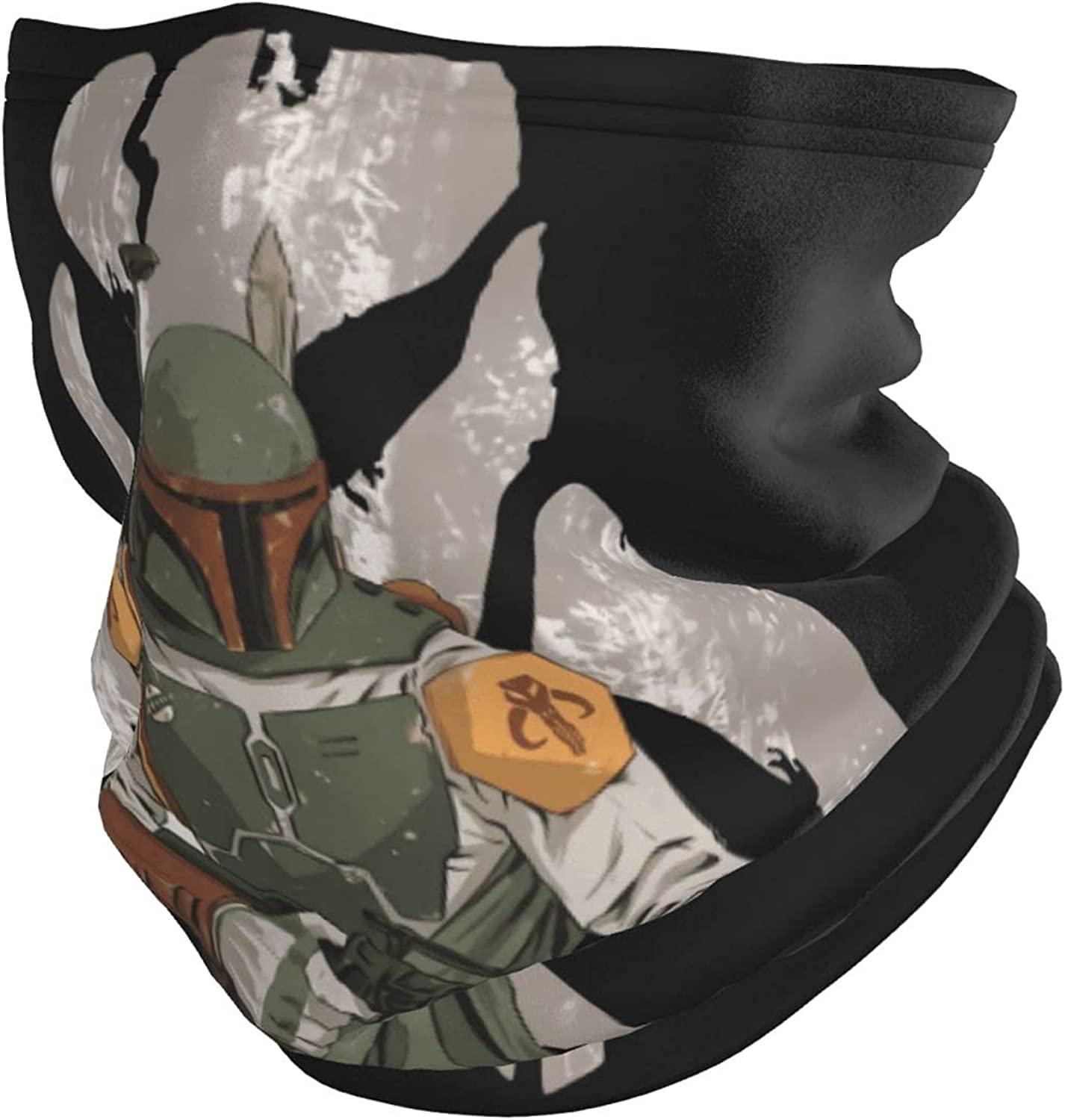 Outdoor Sports Seamless Face Scarf Multifunction Mandalorian Neck Gaiter Face Scarf for Dust Wind Protection Bandana