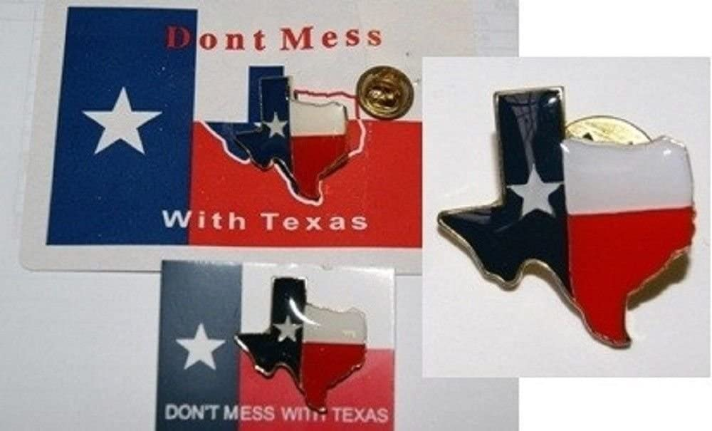 Wholesale Lof half of 6 Texas State Pin Hat Lapel Map Ultra-Cheap Deals Lonestar Bike