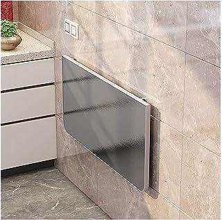 LSXIAO Table Pliante, Bureau Pliant Mural, Table À Manger Dissimulée, Étagère De Stockage, Panneau Épais De 2,5cm Finition...