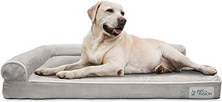 PetFusion BetterLounge Dog Bed w/Solid Orthopedic Memory Foam, Waterproof Liner & YKK Zippers. (Medium/Large & XL). Easy C...