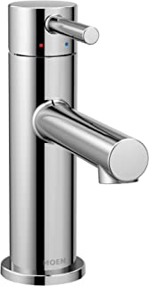 Moen 6190 Align One-Handle Modern Bathroom Faucet with Drain Assembly and Optional Deckplate, Chrome