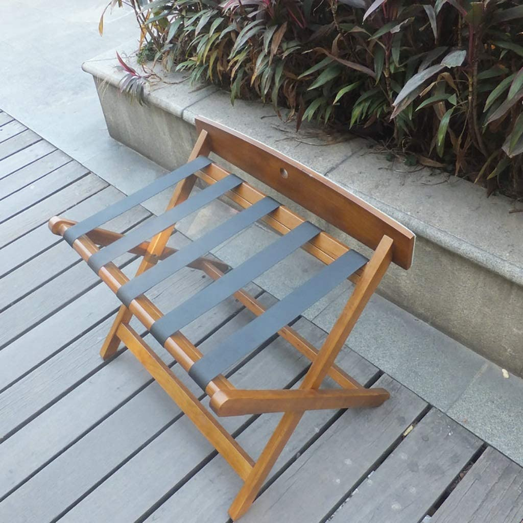 Room Luggage Rack Hotel Excellence Solid Folding Wood Long-awaited Luggag