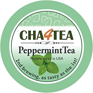 Cha4TEA 18-Count Peppermint Tea Pods for Keurig K-Cup Brewers
