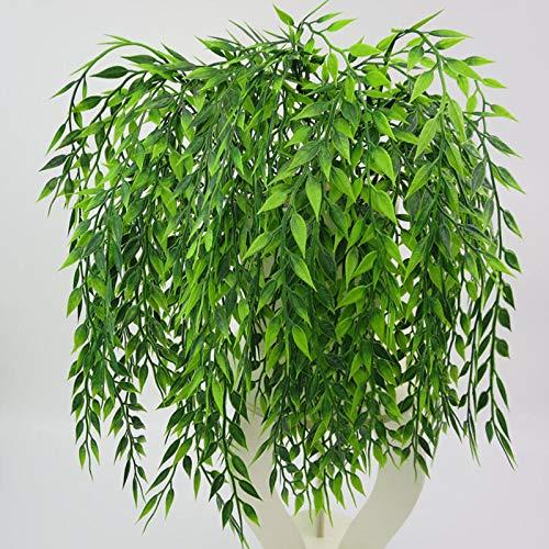 Pumpumly 10 plantas artificiales verdes de sauce para colgar en la pared, decoración del hogar, balcón, decoración de flores, accesorios de 54 cm
