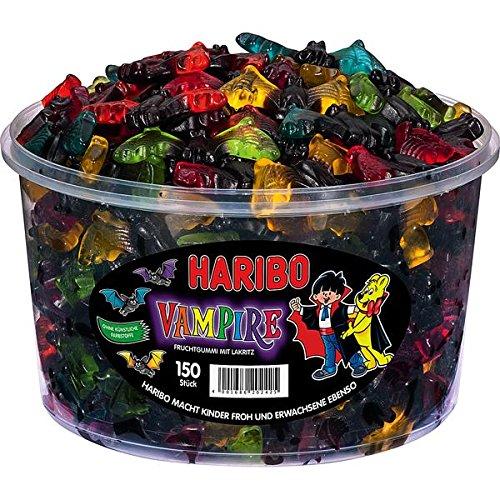 HARIBO Vampire, 2er Pack, Fruchtgummi Weingummi mit Lakritz, Süßwaren