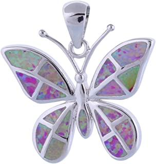 Dana Noblest Butterfly Pink Fire Opal Silver Jewelry Fashion Jewelry Pendants Wholesale Retail P237