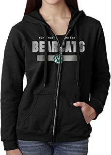Women Northwest Missouri State University Bearcats Logo Hoodie Sweatshirt Black