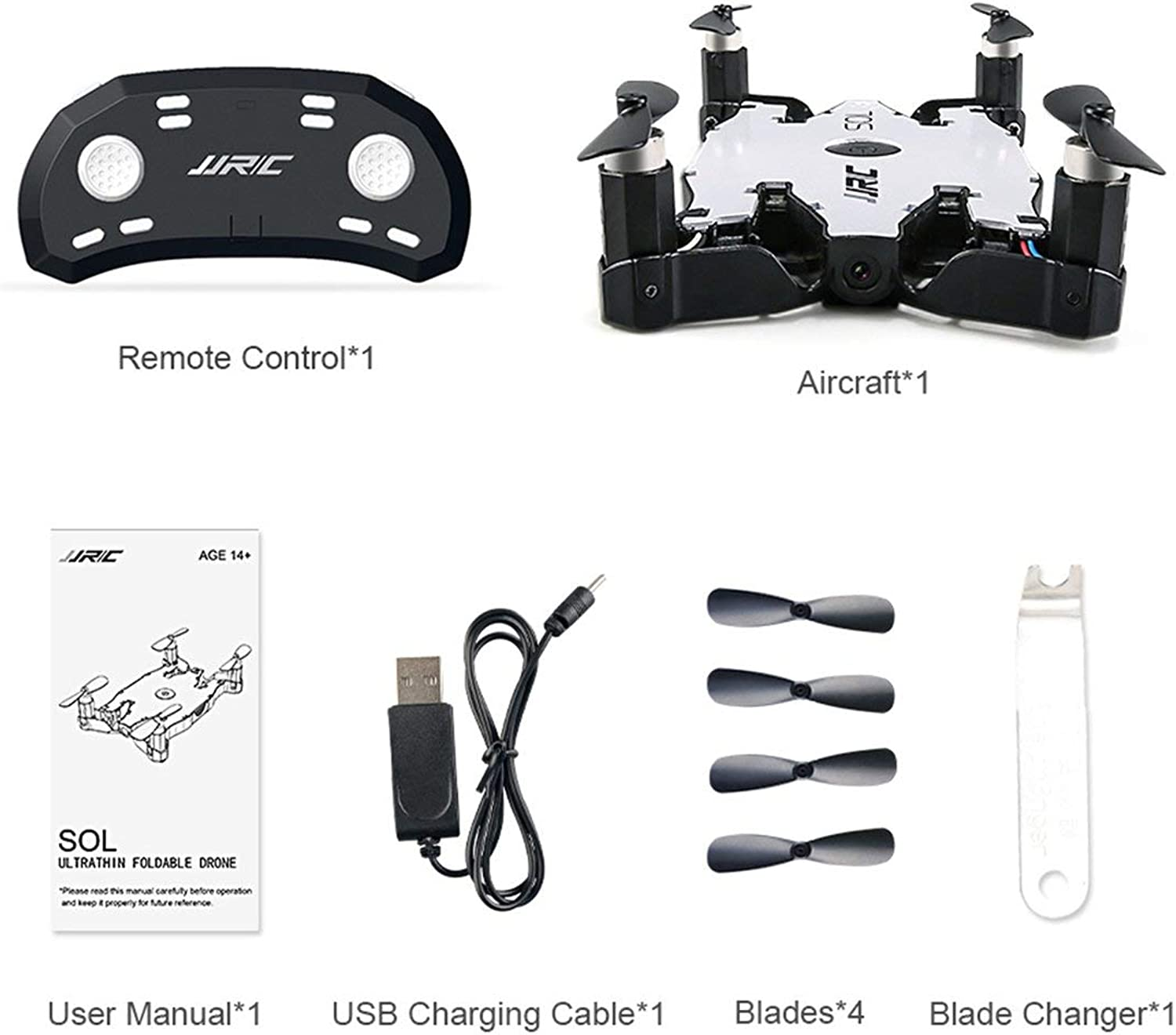 Anyilon for Jjr C H49 2 4Ghz Ultra Thin Foldable Quadcopter Drone with WiFi FPV 720P Hd Live Video Camera Altitude Hold 360° Flips