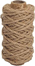 Tenn Well Strong Natural Jute Twine, 4mm Thick 66 Feet Long Jute String Rope Roll for Garden, Arts & Crafts, Home Decor, P...
