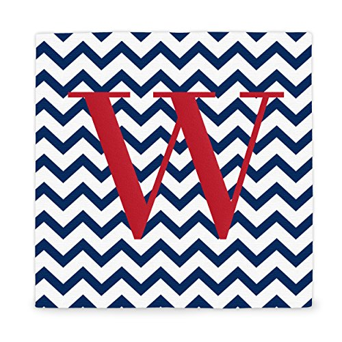 Cathy's Concepts Personalized Chevron Pattern Wrapped Canvas, Letter W