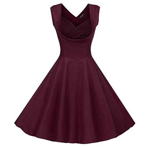 05f2f924346c ACEVOG Women's 1950s V Neck Vintage Cut Out Retro Party Cocktail Swing  Dresses