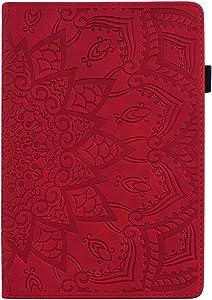 Pefcase iPad Mini 5th Generation Case, iPad Mini 7.9 inch Mini 2/ Mini 3/Mini 4/ Mini 5 Cover, PU Leather Lightweight Slim with Multiple Viewing Angles Card Holders for iPad Mini 2/3/4/5- RED