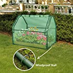 SGHB Solid Wood Raised Garden Bed with Greenhouse Planters Box for Vegetables Flower Fruits Herb Outdoor (Green Round) 10 The greenhouse of this combination is composed of PE cover and anti-rust sprayed steel tube. The garden bed is made of well-polished fir wood without painting. These high-quality materials extend its service time. Four-sided tie are used to fix the cover with each poles. All-round edging increases durability while beautifying the appearance. The steel frame can be quickly installed by plastic connectors. There are 5 wooden strips to divide the space, can be easily installed and removed. Supports growing multiple plants at the same time, improve the utilization of space and convenient for you to manage flowers and plants.