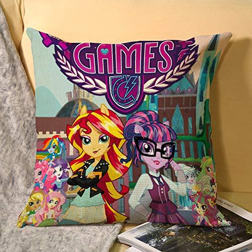 My Little Pony - Fundas de cojín (45 x 45 cm), diseño cuadrado