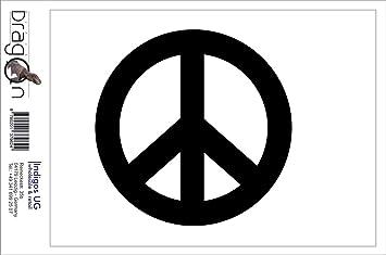 Indigos Ug Aufkleber Autoaufkleber Jdm Die Cut Peace Sign Sticker Symbol Car Truck Fenster Sticker Weiß 88mmx88mm Auto