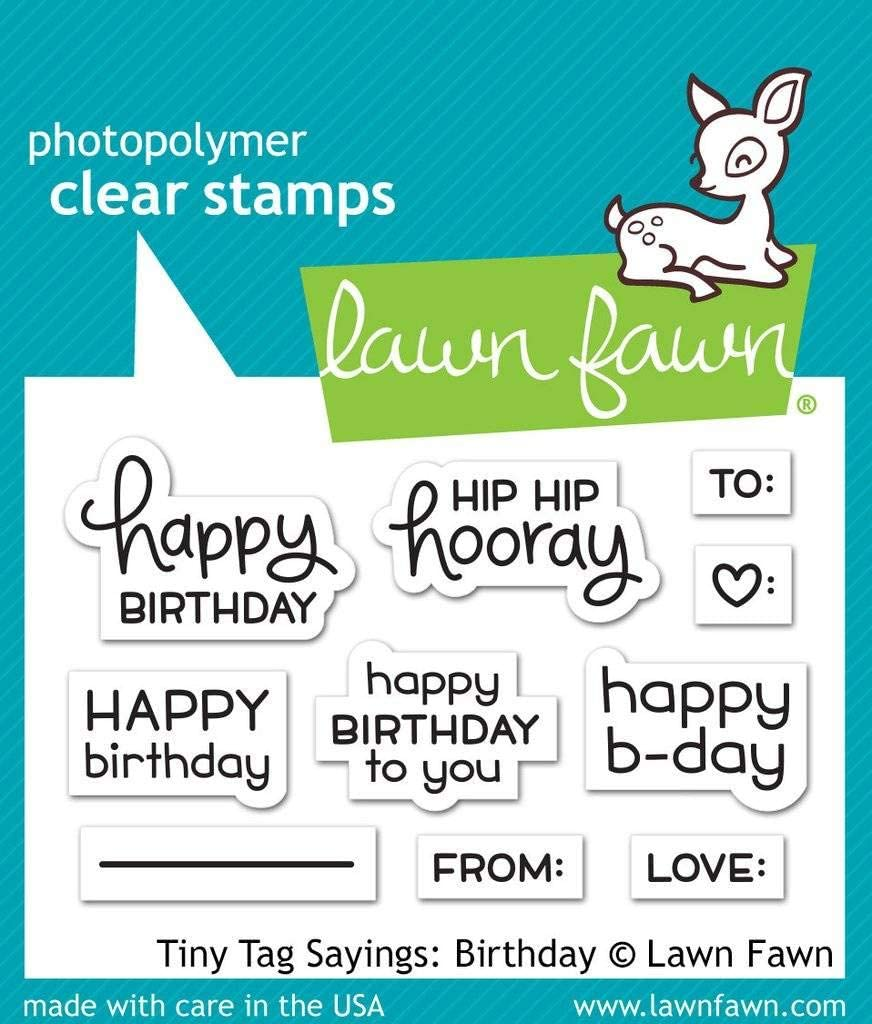 Lawn Fawn Clear Stamps - Birthday LF1421 Sayings: Tiny Our shop OFFers Popular shop is the lowest price challenge the best service Tag