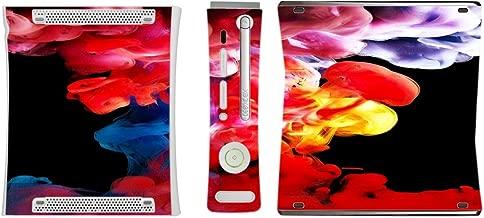 Sticker Skin Print Multi Colored Vape Smoke Curling Wisps Fire Printed Design Xbox 360 Vinyl Decal Sticker Skin by Smarter Designs