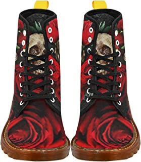 D-Story Shoes Lace Up Fahion Boots for Women