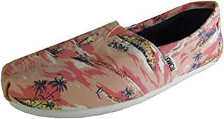 6efb6eb095e TOMS Women s Printed Palms Classics Coral Canvas Printed Palms Loafer