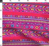 Pink, Aztekisch, Indigen, Peru, Geometrisch, Mexiko Stoffe