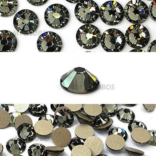 144 Swarovski 2058 Xilion / NEW 2088 Xirius 16ss 4mm flatback rhinestones ss16 BLACK DIAMOND F