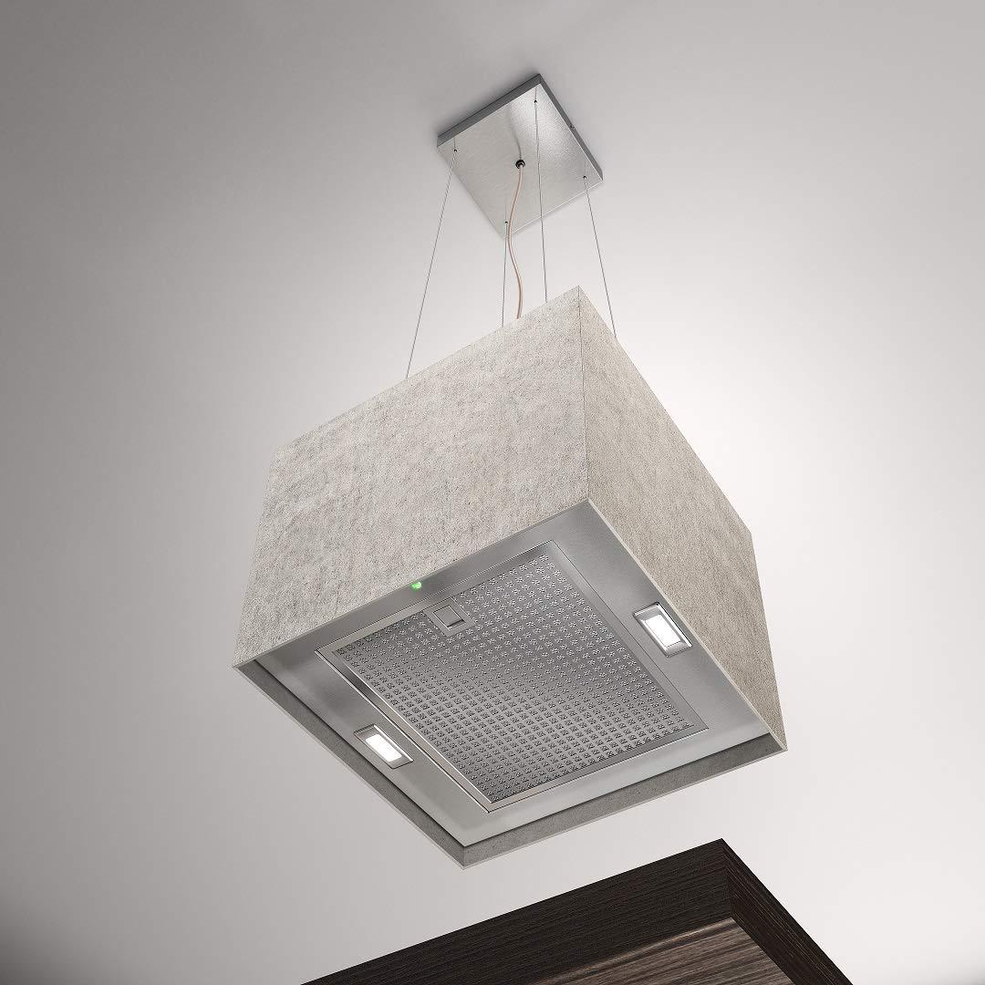 Airforce Concrete - Campana de cocina con sistema Integra (40 cm), color marfil: Amazon.es: Grandes electrodomésticos