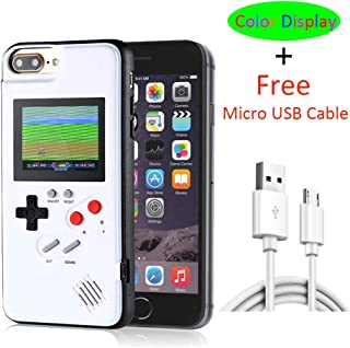 iPhone 7 Plus Case Game Console with Color Display, VOLMON iPhone 8 Plus Gameboy Case Cover with 3D Retro Video Game, Shockproof Case for iPhone 6P/6SP/7P/8P, 5.5 Inch