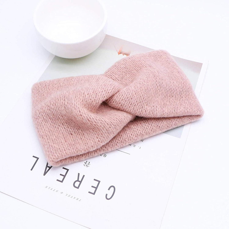 NC Wool Headband Winter Warm Soft Top Headband Ladies Elastic Headband Turban Headwear