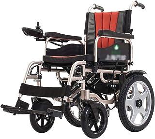 AOLI Silla de ruedas eléctrica plegable motorizado sillas de ruedas eléctricas, sillas de ruedas Potente motor dual, ligero, sólo 28 kg, para trabajo pesado, de doble motor plegable Silla de ruedas e