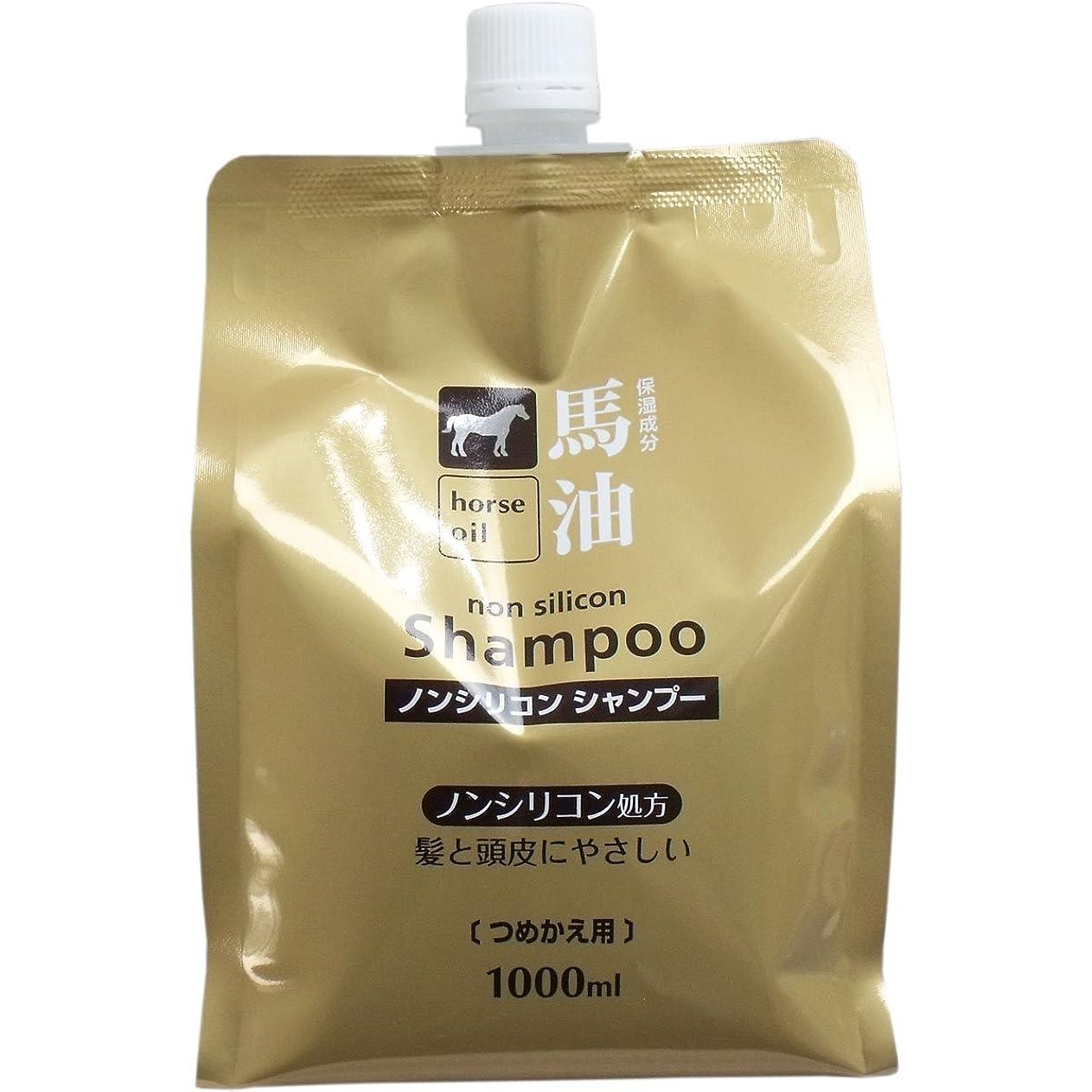 許すコンテンツ優先熊野油脂 馬油シャンプー 詰め替え用 1000ml × 3個
