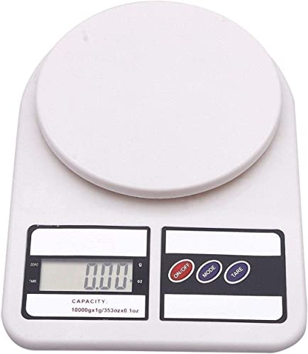 Digital Kitchen Scale Electronic Digital Kitchen Weighing Scale For Kitchen Weight Machine For Kitchen 10 Kgs Weight Measure Spices Vegetable Liquids Ivory