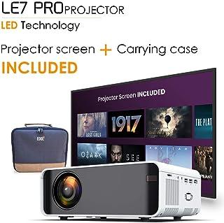 جهاز عرض لاسلكي EDGE LE7 PRO 4500 لومن بشاشة عرض 170 بوصة، DLNA، واي فاي، يدعم 1080P، HDMI، AV، VGA، USB، مكبرات صوت مدمجة، 35000 ساعة، تلفاز، الكمبيوتر المحمول، صندوق، هاتف