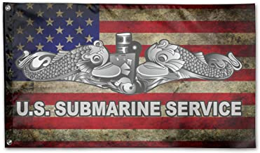 UNSTARFLAG American Flag by U.S. Veterans Owned US Submarine Service Dolphins Flag 3x5 Ft