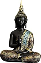 F Fityle Thai Meditating Buddha Statue for Home Decor 2.6''
