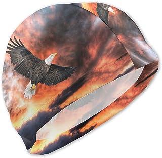 Gran águila Volando bajo Gorros de baño Coloridos del cieloGorro de baño cómodo Impermeable para niños