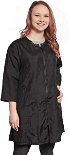 Mane Caper Unisex 3/4 Sleeve Black Styling Jacket, Fashionable and Professional Complete Coverage, Two Front Pockets, Ligh...