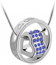 TOPUNDER Women Crystal Chain Rhinestone Necklace Love Heart Ring Pendant Gift by