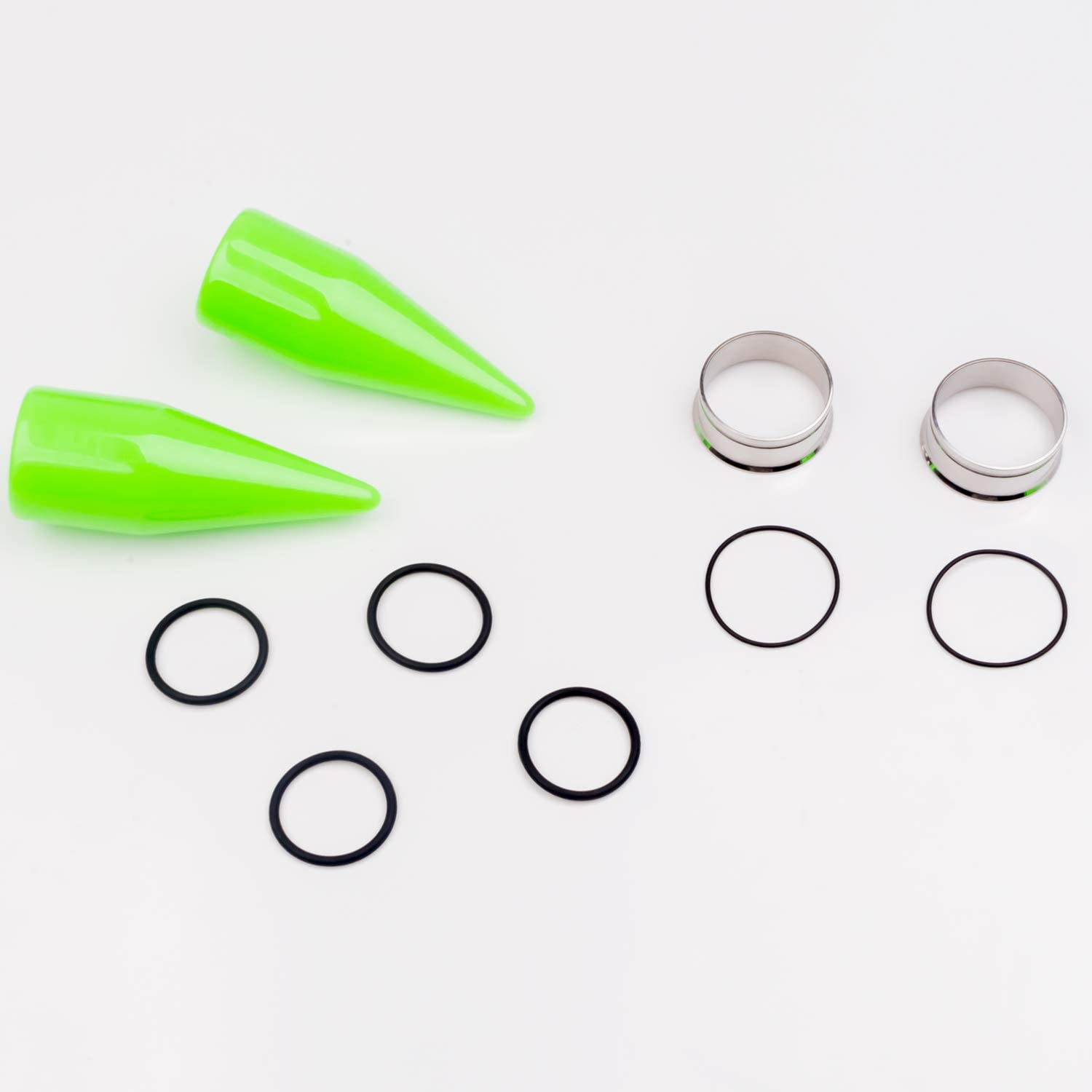 XSNA 32 Pcs Ear Stretching Kit Tapers Tunnels Plugs Surgical 00G - 1 inch Implant Grade Stainless Steel Gauges Body Piercing Jewelry